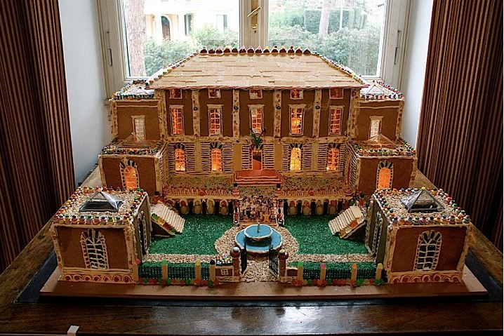 The Gingerbread White House >> How Sweet It Is: A Gingerbread McKim, Mead & White AAR Building is Constructed in Rome | Society ...